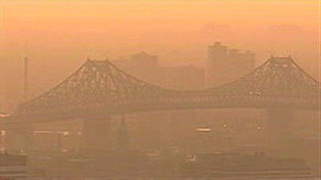 Smog sur Montréal