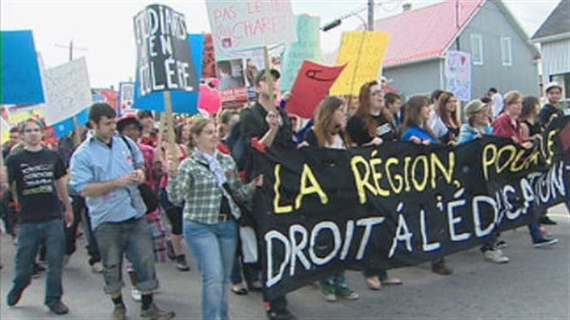 Les étudiants du Saguenay-Lac-Saint-Jean manifestent