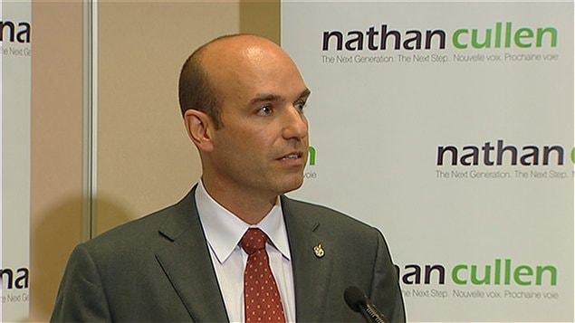 Le député néo-démocrate Nathan Cullen