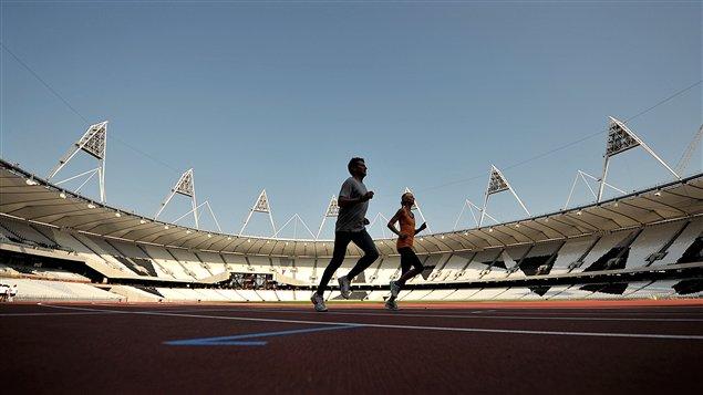 La piste d'athlétisme des Jeux de Londres 2012