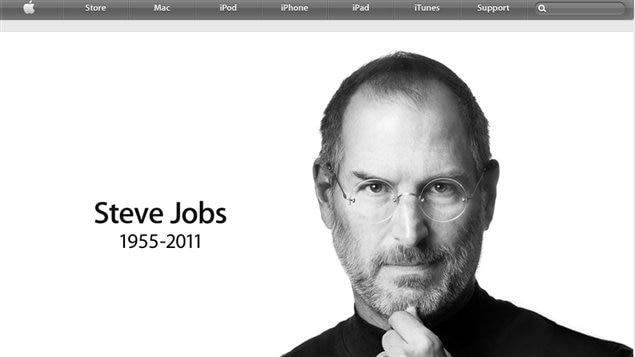 La page d'accueil du site d'Apple