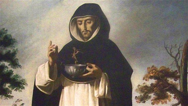 Saint Louis Bertrand (détail d'une peinture de Francisco de Zurbarán)