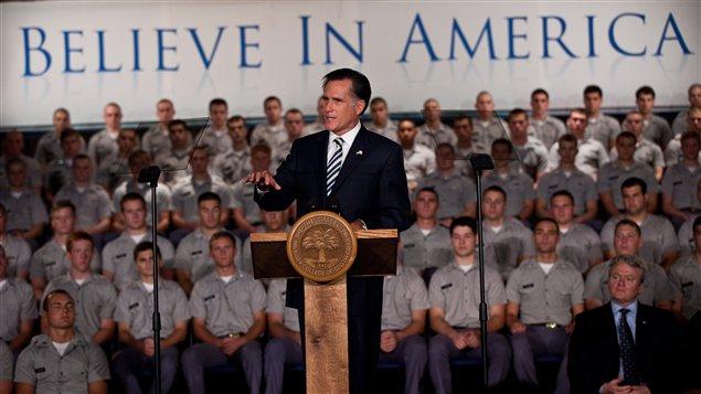 Mitt Romney s'est adressé aux élèves de l'école Charleston, en Caroline du Sud.