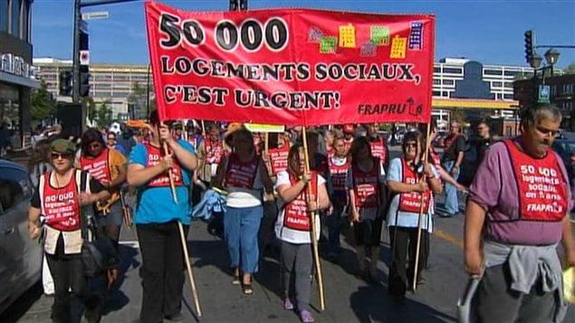 Manifestation du FRAPRU le 9 octobre, à Montréal