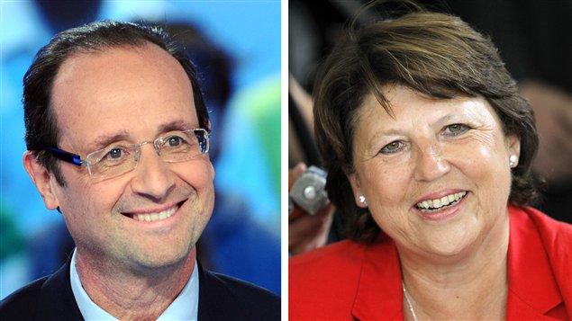 François Hollande et Martine Aubry
