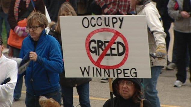 indignés Occupons Winnipeg