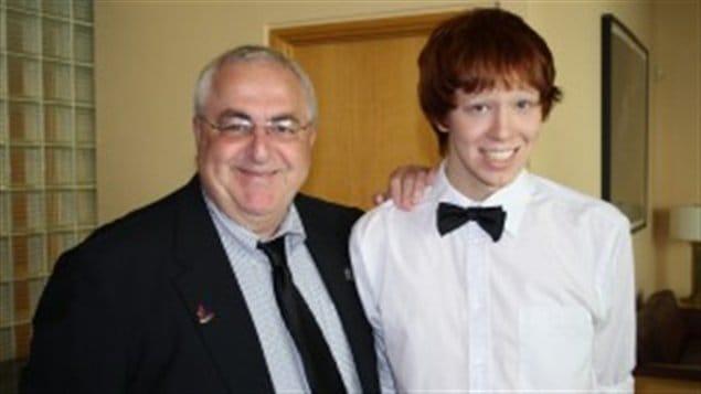 Jamie Hubley et son père, Allan Hubley