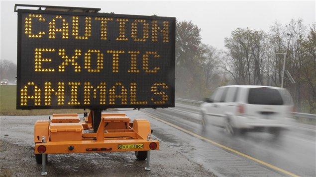 Panneau routier en Ohio.