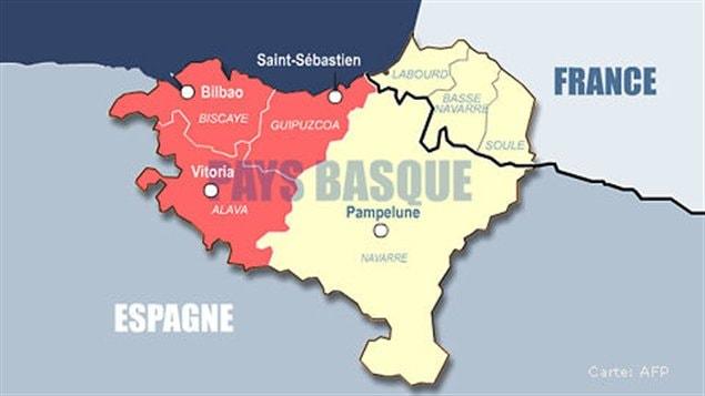 La carte du pays basque