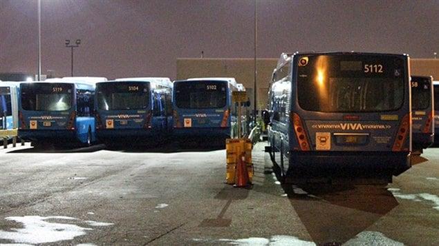 grève des autobus Viva