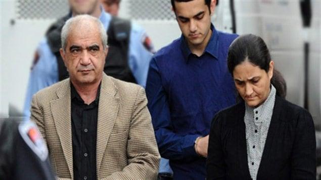Les trois accusés dans l'affaire Shafia
