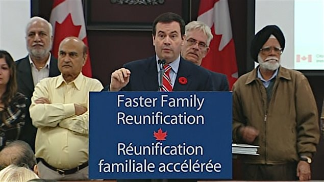 Jason Kenney, ministre de l'Immigration du Canada