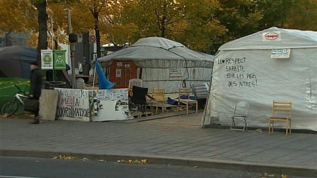 Les indignés montréalais commencent à se préparer pour l'hiver.