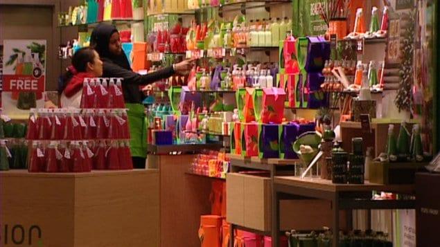 magasinage de Noël