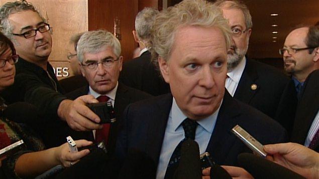 Le premier ministre et chef du Parti libéral du Québec Jean Charest