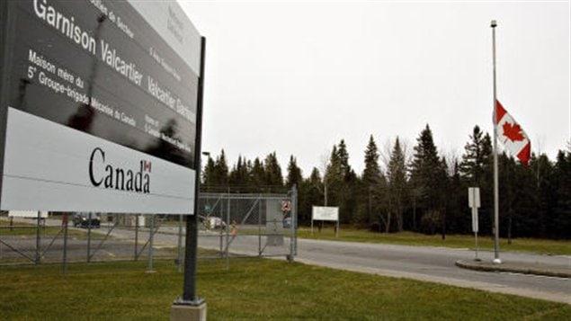 Entrée sur le site de la base de Valcartier