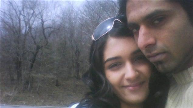 Zainab Shafia et Ammar Wahib, sur une photo retrouvée sur le téléphone cellulaire de la jeune femme