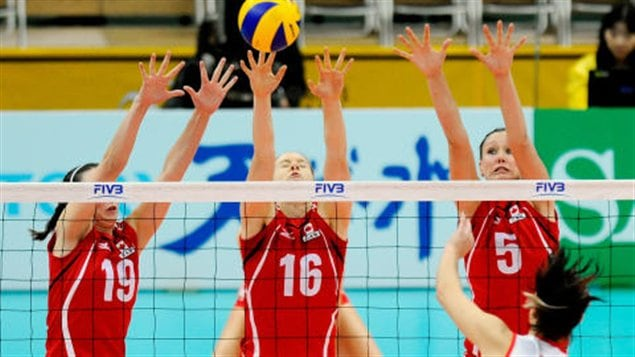 L'équipe canadienne de volleyball féminin