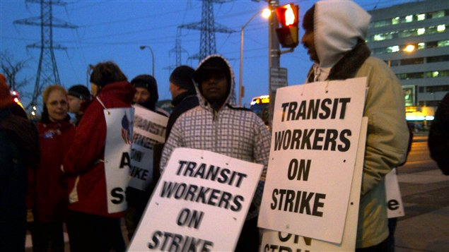 grève dans la région de York