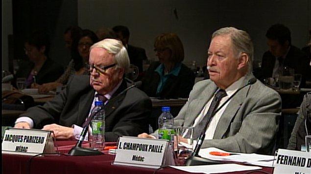 Jacques Parizeau à la deuxième journée d'audiences publiques (25 novembre 2011)