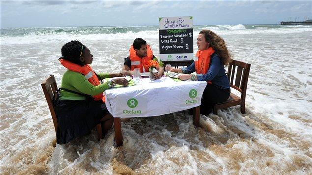 Des activistes d'Oxfam
