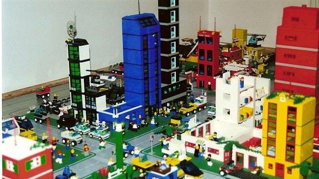 Une ville en blocs Lego