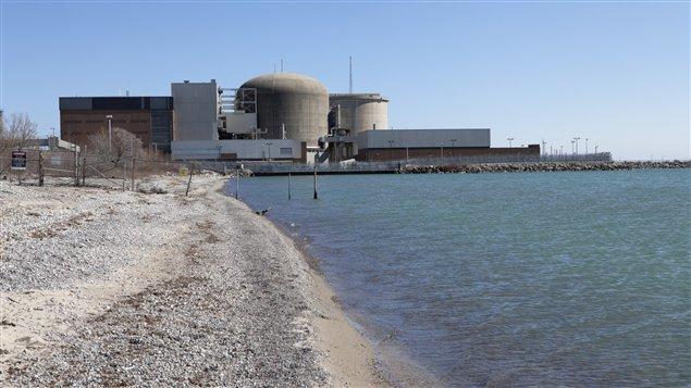 L'usine d'énergie nucléaire à Pickering en Ontario
