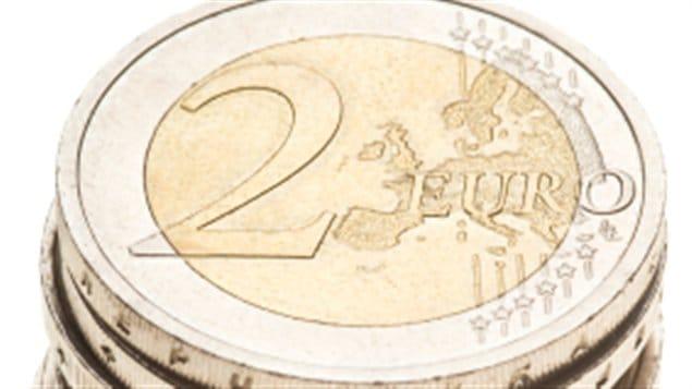 pile de change euro 2