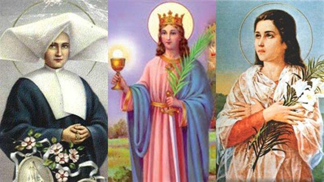 Sainte Catherine Labouré, sainte Barbe et sainte Maria Goretti
