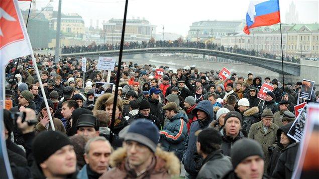 La foule à Moscou
