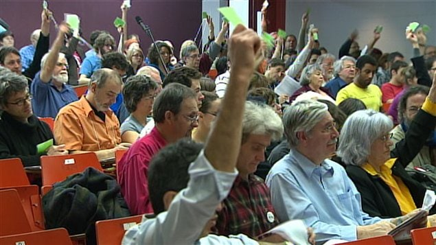 Les militants de Quebec solidaire réunis en congrès