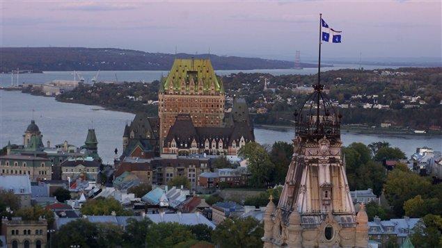 Vue aérienne de la ville de Québec (archives)