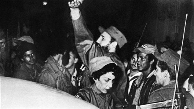 Entrée triomphale de Fidel Castro à Cienfuegos, 4 janvier 1959