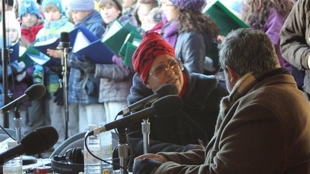 F. Grimaldi et P. Mollé à la Guignolée du Dr Julien