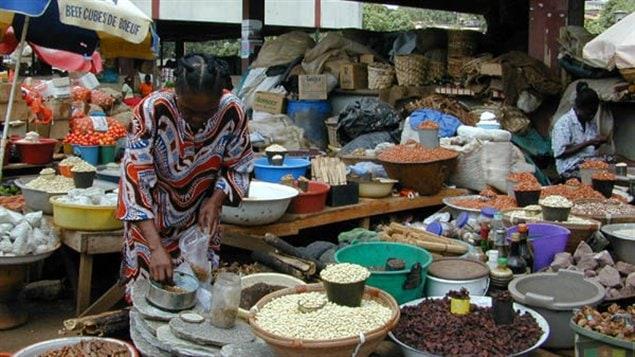 Marché de Yaoundé au Cameroun