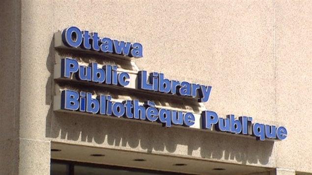 Enseigne de la Bibliothèque publique d'Ottawa