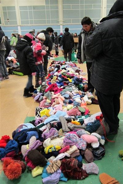L'organisme True North Aid s'est rendu à Attawapiskat en décembre avec des vêtements et des jouets