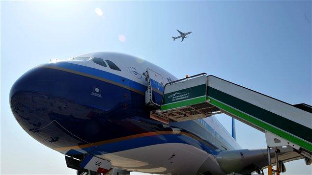 Un appareil Airbus A380 de la compagnie aérienne China Southern