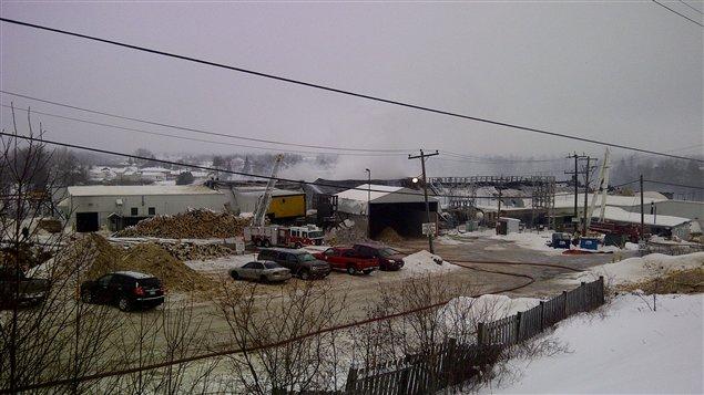 La scierie Eacom à Timmins