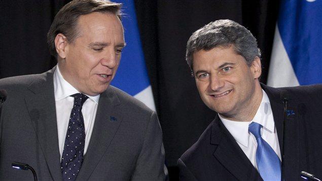Francois Legault et Gerard Deltell