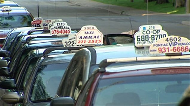 Des taxis de Montréal
