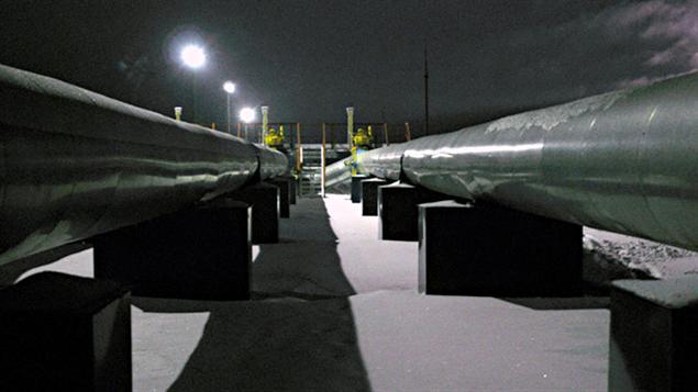 Des pipelines de gaz naturel