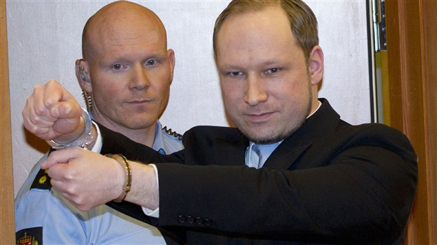 Anders Behring Breivik au tribunal la semaine dernière