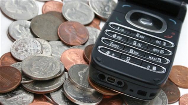 téléphone argent