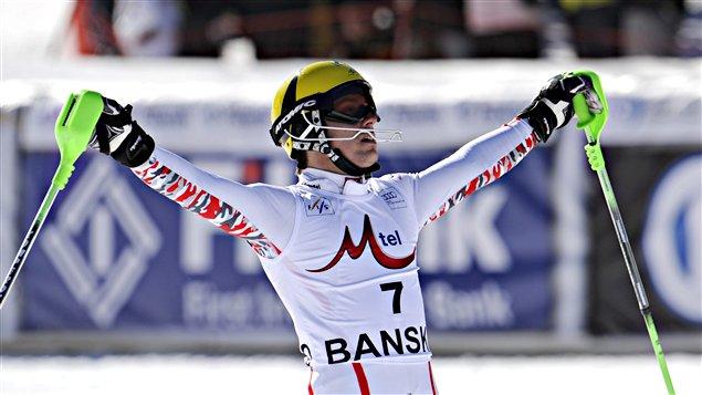 Marcel Hirscher savoure sa victoire.