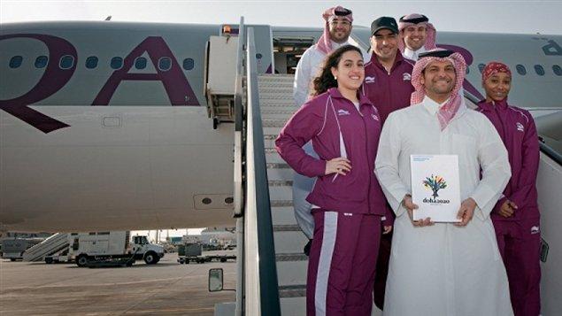 Délégation du Qatar en route pour Lausanne le 15 février 2012