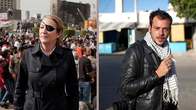 La journaliste Marie Colvin et le photographe Rémi Ochlik, tués en Syrie