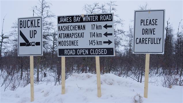 La route d'hiver entre Moose Factory et Attawapiskat brise l'isolement des communautés