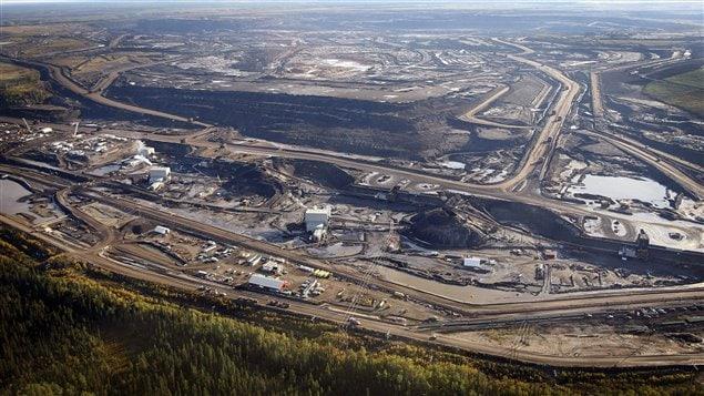 Site d'exploitation de sables bitumineux à Fort McMurray, en Alberta.
