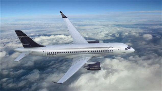 Le dessin du futur CSeries de Bombardier